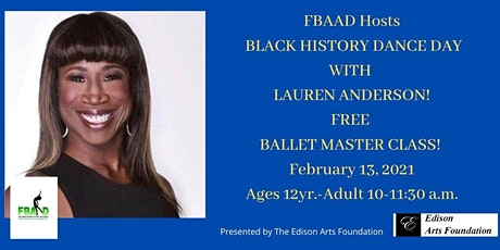 FREE Black History Dance Day at FBAAD w/Lauren Anderson tickets
