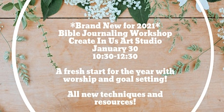 *All New* Bible Journaling at the Studio! Setting Goals with Psalm 65 tickets