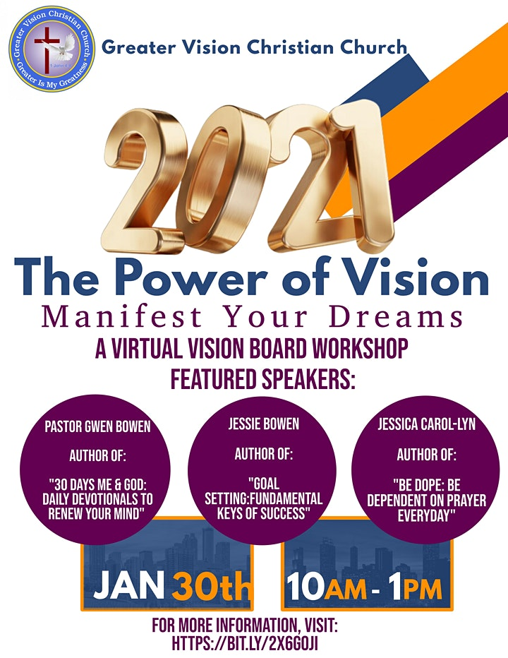 Virtual Vision Board Workshop-The Power of Vision: Manifest Your Dreams image