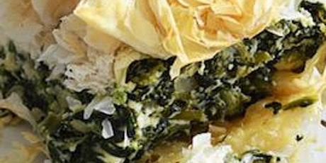 Spanakopita (Spinach Pie) with Authentic Greek Salad tickets