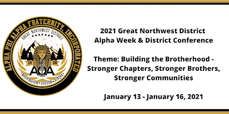 2021 Great Northwest District Alpha Week & District Conference tickets