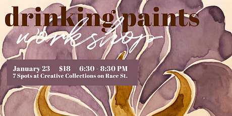 Drinking Paints Workshop at Creative Collections tickets
