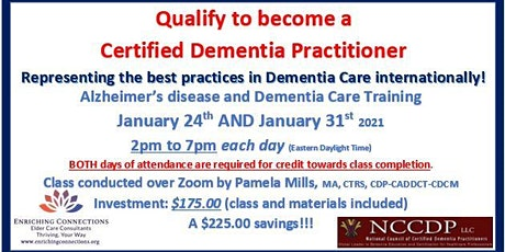 Alzheimer's disease and Dementia Care Training tickets