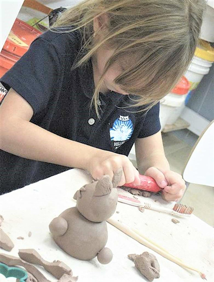Creating with Air Dry Clay at the Studio, Kids of age 5 & up image