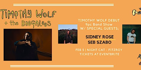 Timothy Wolf and the Boogaloo's - Debut Show tickets