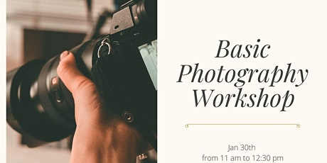 Photography for beginners tickets