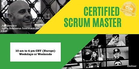 (EUROPE) Certified Scrum Master with the Scrum Hardware Endorsement tickets