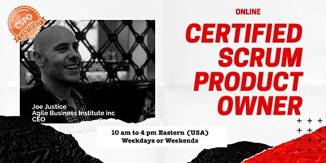 (USA) Certified Scrum Product Owner with the Scrum Hardware Endorsement Tickets