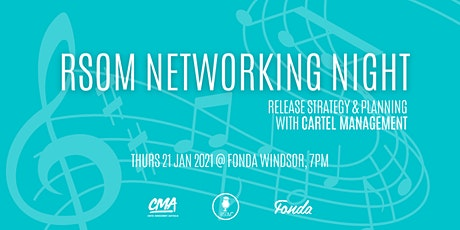 RSOM Networking Night #1 2021 // Release Strategy with Cartel Management tickets