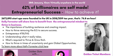 Entrepreneurial Success - How to achieve it! Networking and Coaching Master tickets