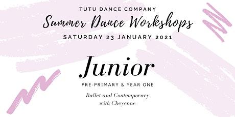 Junior ballet & contemporary workshop: Saturday tickets