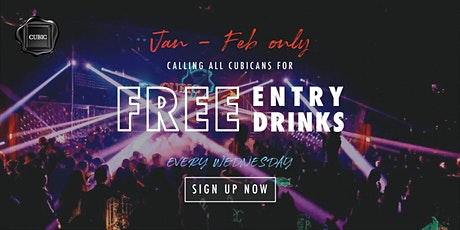 """Every WED""  Free Entry + Drinks before 12:30 AM (Jan - Feb only!) tickets"