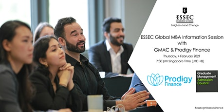 ESSEC GMBA Info Session with GMAC and Prodigy Finance tickets