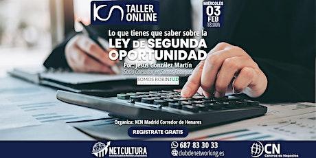 Taller Online - Ley de Segunda Oportunidad 3Feb. boletos