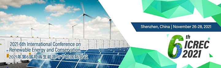 The 6th Intl. Conf. on Renewable Energy and Conservation (ICREC 2021) image
