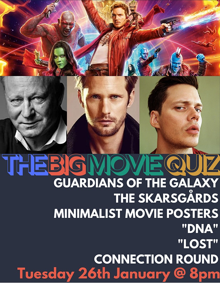 THE BIG MOVIE QUIZ! Tues 26th January @ 8pm inc. GUARDIANS OF THE GALAXY image