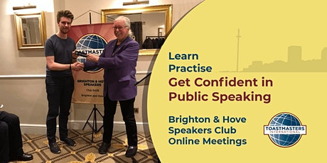 Brighton & Hove Speakers - Learn and Practise Public Speaking Online (FREE) tickets