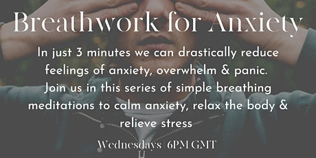 Breathwork for Anxiety Weekly Class tickets