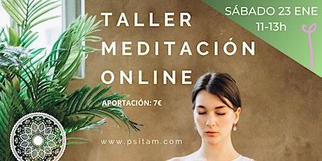 Taller meditacion, mindfulness & relajación entradas