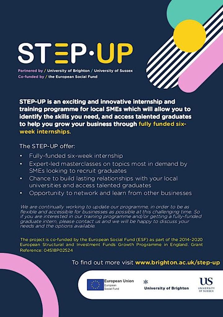 STEP-UP Programme briefing webinar image