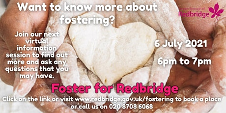 Foster for Redbridge Virtual Information Session, 06.07.21, 6-7pm tickets