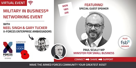 Military in Business Virtual Networking Event: Paul Scully MP tickets