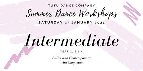 Intermediate ballet & contemporary workshop: Saturday tickets