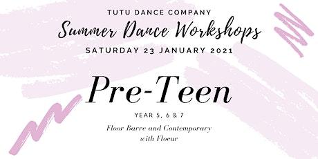 Pre-Teen ballet & contemporary workshop: Saturday tickets
