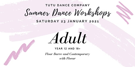 Adult ballet & contemporary workshop: Saturday tickets