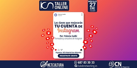 Taller Online - Las Claves que mejorarán TU CUENTA de Instagram 27Ene entradas