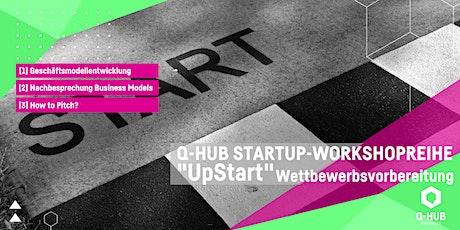 """Q-HUB Startup Workshop: """"UpStart"""" Geschäftsmodell-Entwicklung Tickets"""