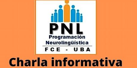 Programación Neurolingüística UBA . Charla informativa boletos