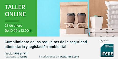 Taller Online-  Seguridad alimentaria y legislación ambiental boletos