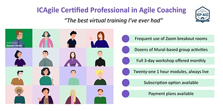 Agile Coach Workshop with ICP-ACC Certification Feb 8,10,11 tickets