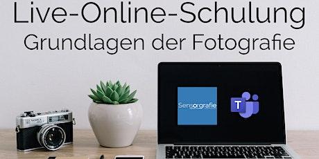 Live-Online Schulung Fotografie Grundlagen in 7 Lektionen Tickets