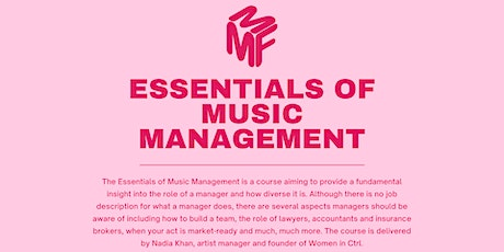 Essentials of Music Management January 2021 tickets