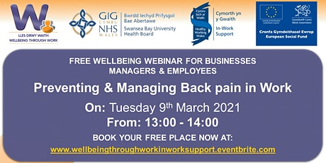Preventing & Managing Back Pain in the Workplace tickets