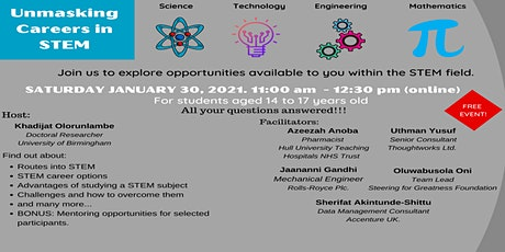 Unmasking Careers in STEM tickets