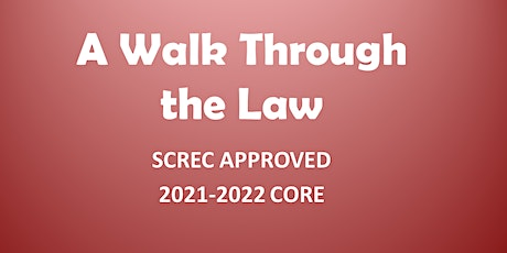 A Walk Through the Law Webinar (4 CE CORE) Mon Feb 1, 2021 (1-5) tickets