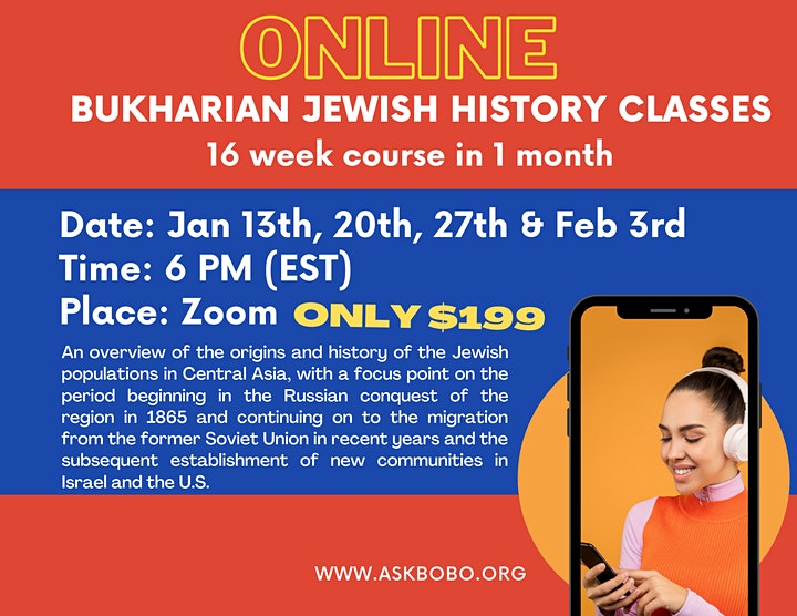 Online: Bukharian Jewish History Classes and Culture image