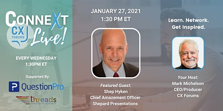 2021 Customer Service and Experience Predictions with Shep Hyken tickets