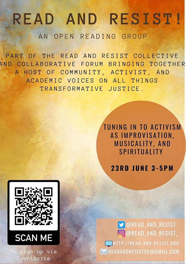 Read & Resist: Tuning into Activism as Improvisation image