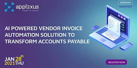 AI Powered Vendor Invoice Automation Solution to Transform Accounts Payable tickets