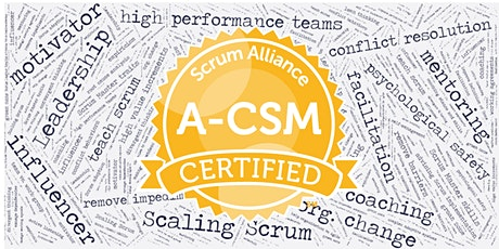 Advanced Certified Scrum Master (A-CSM) - video recorded sessions tickets