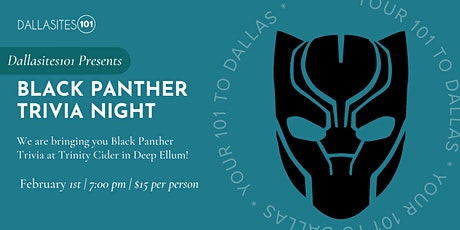 Black Panther Trivia tickets