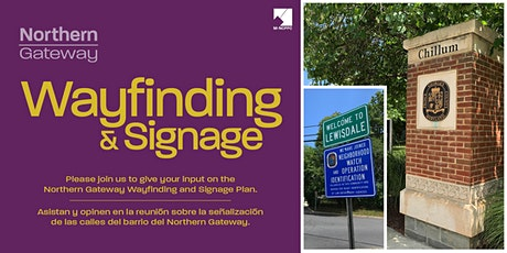 Virtual Community Meeting - Northern Gateway Wayfinding and Signage Plan tickets