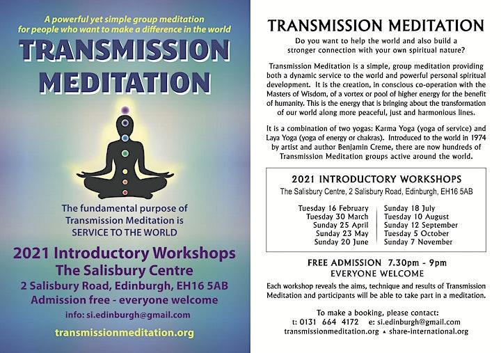 Transmission Meditation – introductory workshop 2021 (Edinburgh/online UK) image