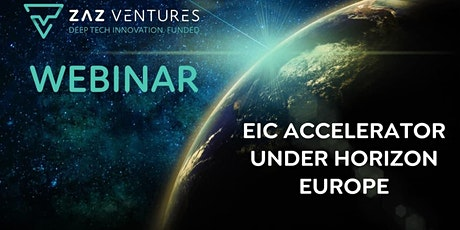EIC Accelerator under Horizon Europe tickets