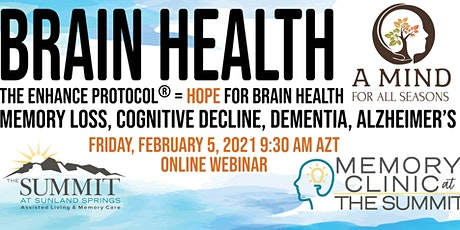Brain Health Webinar: Memory Loss, Cognitive Decline, Dementia, Alzheimer's tickets