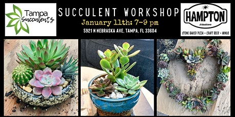 Feb 8th - Hampton Station & Tampa Succulents Wreath and Planter  Workshop tickets